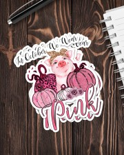 PIG  PINK Sticker - 4 pack (Vertical) aos-sticker-4-pack-vertical-lifestyle-front-05