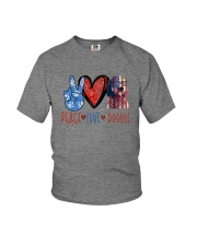 PEACE LOVE DOODLE Youth T-Shirt thumbnail