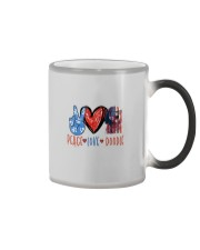 PEACE LOVE DOODLE Color Changing Mug thumbnail