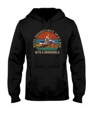 NEVER UNDERESTIMATE AN OLD MAN WITH A SNOWMOBILE Hooded Sweatshirt thumbnail