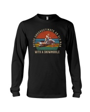 NEVER UNDERESTIMATE AN OLD MAN WITH A SNOWMOBILE Long Sleeve Tee thumbnail