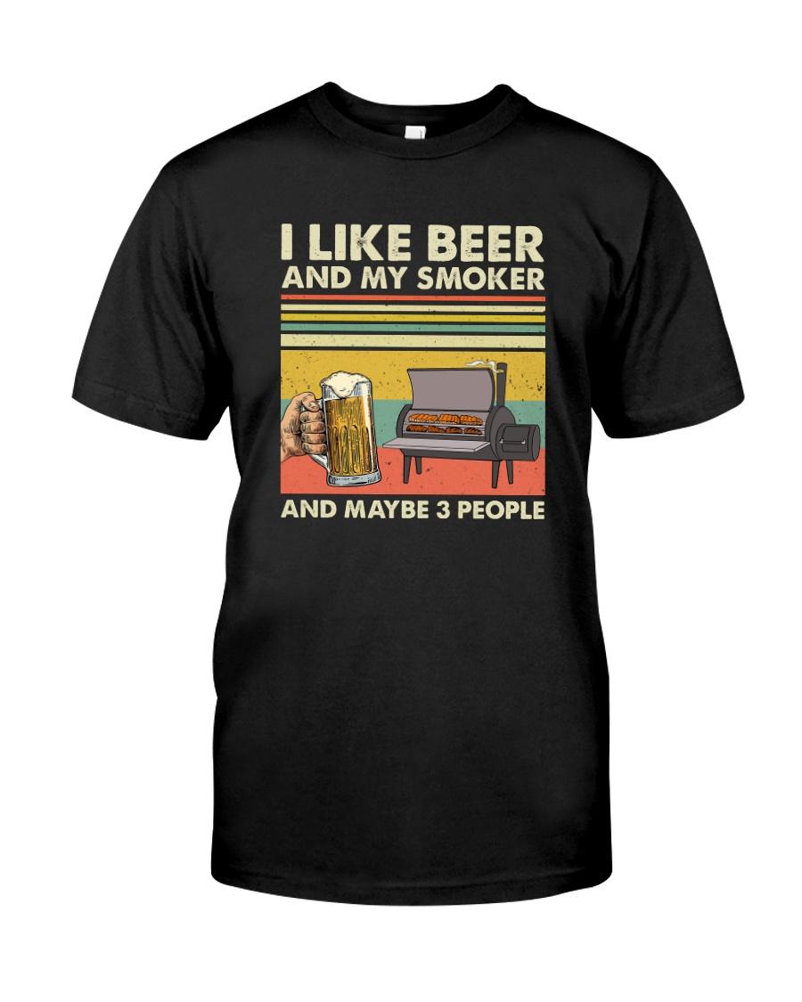 I LIKE BEER AND MY SMOKER Classic T-Shirt