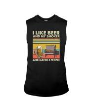 I LIKE BEER AND MY SMOKER Sleeveless Tee thumbnail