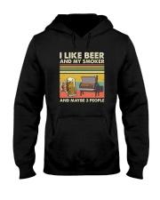 I LIKE BEER AND MY SMOKER Hooded Sweatshirt thumbnail