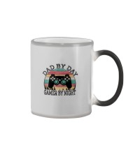DAD BY DAY GAMER BY NIGHT Color Changing Mug thumbnail