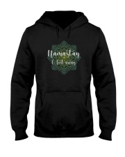 NAMAST'AY 6 FEET AWAY YOGA SYMBOL Hooded Sweatshirt thumbnail