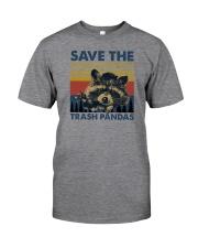 SAVE THE TRASH PANDAS Classic T-Shirt front