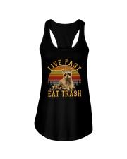 LIVE FAST EAT TRASH Ladies Flowy Tank thumbnail