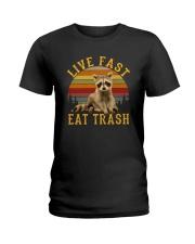 LIVE FAST EAT TRASH Ladies T-Shirt thumbnail