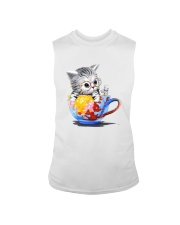 KITTY ON CUP HAND Sleeveless Tee thumbnail