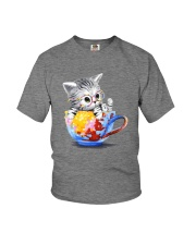 KITTY ON CUP HAND Youth T-Shirt thumbnail
