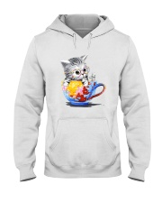 KITTY ON CUP HAND Hooded Sweatshirt thumbnail