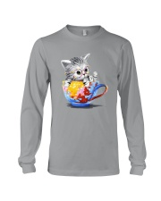 KITTY ON CUP HAND Long Sleeve Tee thumbnail