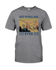 BEST PITBULL DAD EVER Classic T-Shirt front