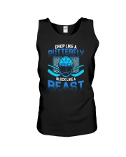 DROP LIKE A BUTTERFLY BLOCK LIKE A BEAST Unisex Tank thumbnail