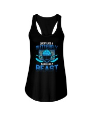 DROP LIKE A BUTTERFLY BLOCK LIKE A BEAST Ladies Flowy Tank thumbnail