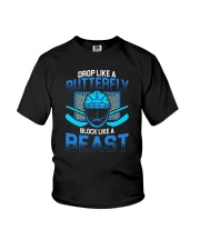 DROP LIKE A BUTTERFLY BLOCK LIKE A BEAST Youth T-Shirt thumbnail