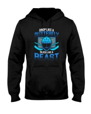 DROP LIKE A BUTTERFLY BLOCK LIKE A BEAST Hooded Sweatshirt thumbnail