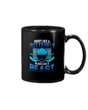 DROP LIKE A BUTTERFLY BLOCK LIKE A BEAST Mug thumbnail