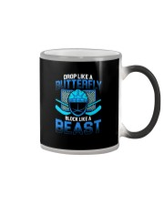 DROP LIKE A BUTTERFLY BLOCK LIKE A BEAST Color Changing Mug thumbnail
