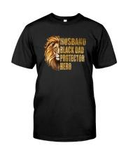 HUSBAND BLACK DAD PROTECTOR HERO Classic T-Shirt front