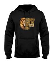 HUSBAND BLACK DAD PROTECTOR HERO Hooded Sweatshirt thumbnail