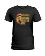 HUSBAND BLACK DAD PROTECTOR HERO Ladies T-Shirt thumbnail