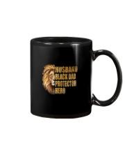 HUSBAND BLACK DAD PROTECTOR HERO Mug thumbnail