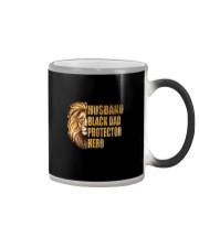 HUSBAND BLACK DAD PROTECTOR HERO Color Changing Mug thumbnail