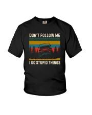 DON'T FOLLOW ME JEEP Youth T-Shirt thumbnail