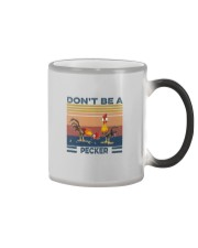DON'T BE A PECKER Color Changing Mug tile