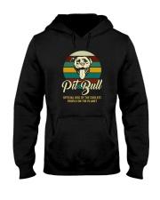 official dog pitbull Hooded Sweatshirt thumbnail