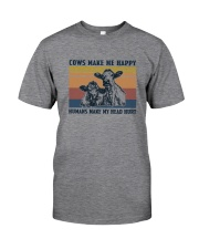 COWS MAKE ME HAPPY Classic T-Shirt front