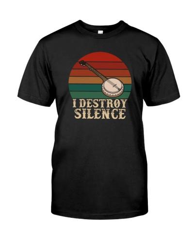 I DESTROY SILENCE BANJO VINTAGE