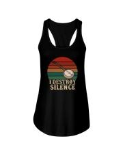 I DESTROY SILENCE BANJO VINTAGE Ladies Flowy Tank thumbnail