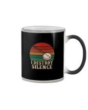 I DESTROY SILENCE BANJO VINTAGE Color Changing Mug thumbnail