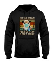 FUNNY PUG PLEASE STAY 6 FEET AWAY Hooded Sweatshirt thumbnail