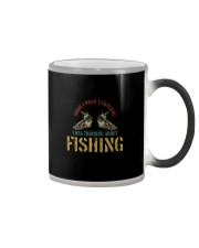 I WAS THINKING ABOUT FISHING Color Changing Mug thumbnail