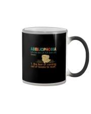 ABIBLIOPHOBIA NOUN Color Changing Mug thumbnail