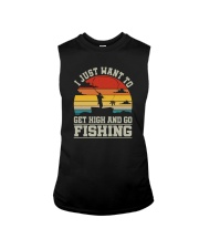 I JUST WANT TO GET HIGH AND GO FISHING Sleeveless Tee thumbnail