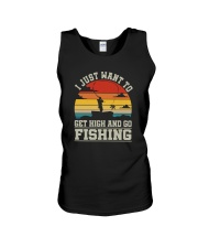 I JUST WANT TO GET HIGH AND GO FISHING Unisex Tank thumbnail