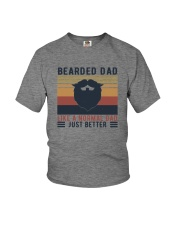 BEARDED DAD LIKE A NORMAL DAD JUST BETTER Youth T-Shirt thumbnail