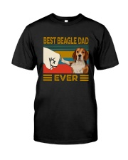BEST  Beagle DAD EVER Classic T-Shirt front