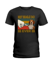 BEST  Beagle DAD EVER Ladies T-Shirt thumbnail