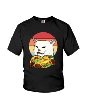 CAT MEME TACOS VINTAGE Youth T-Shirt thumbnail