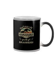 MESS WITH MAMASAURUS YOU'LL GET JURASSKICKED Color Changing Mug tile