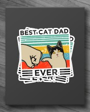 BEST CAT DAD EVER Sticker - 4 pack (Vertical) aos-sticker-4-pack-vertical-lifestyle-front-10