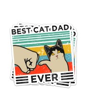 BEST CAT DAD EVER Sticker - 4 pack (Vertical) front