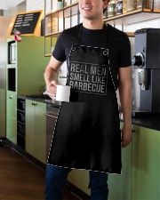 REAL MEN LIKE BARBECUE Apron aos-apron-27x30-lifestyle-front-01