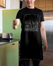 REAL MEN LIKE BARBECUE Apron aos-apron-27x30-lifestyle-front-04
